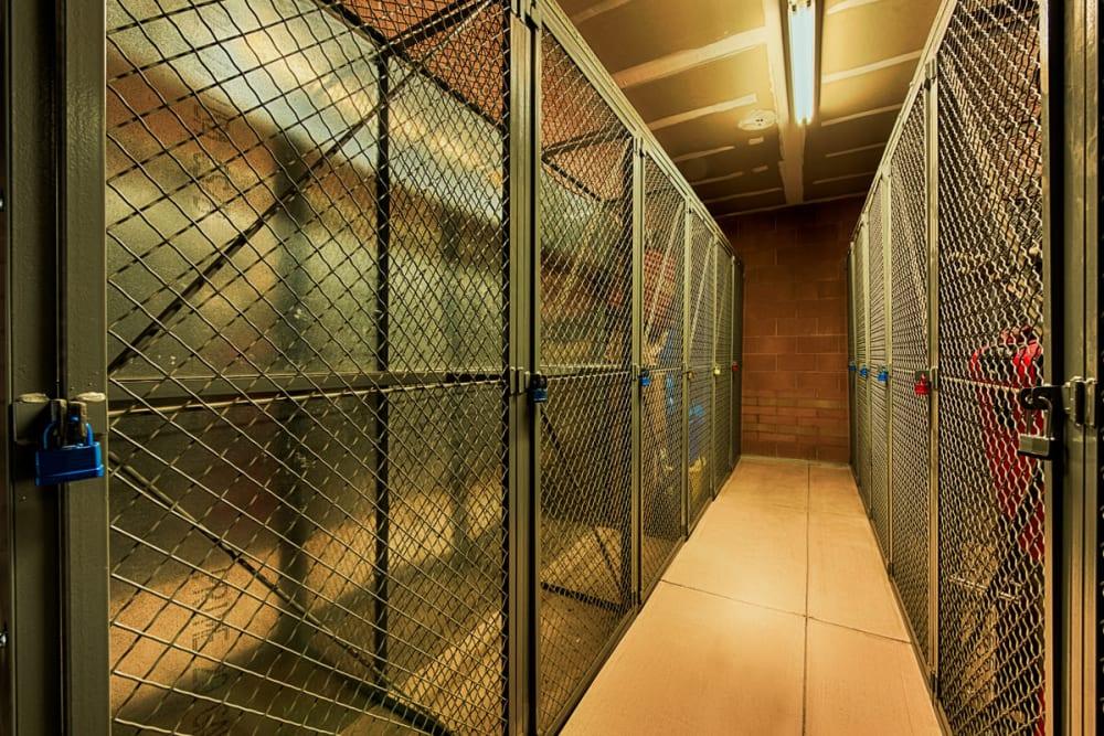 Secure storage space at Ten Wine Lofts in Scottsdale, Arizona