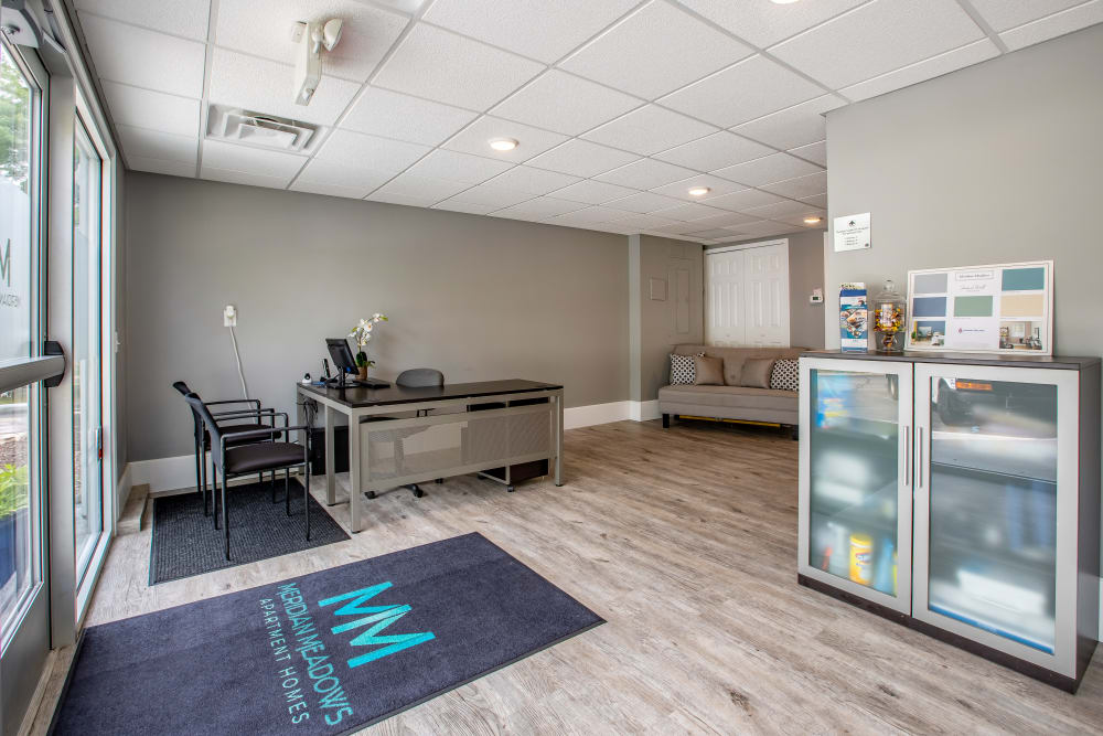 Leasing office at Meridian Meadows in Okemos, Michigan