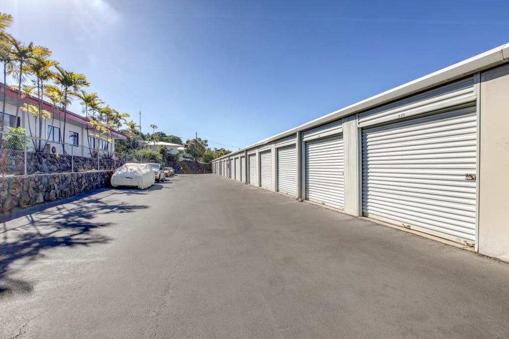 Drive-up units at My Self Storage Space in Kealakekua, Hawaii