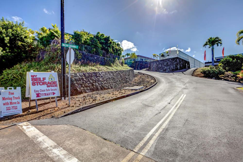 Entrance at My Self Storage Space in Kealakekua, Hawaii