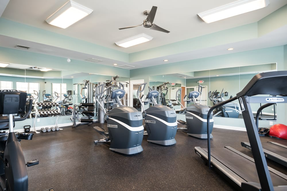 Well-equipped fitness center at Valley Farms in Louisville, Kentucky