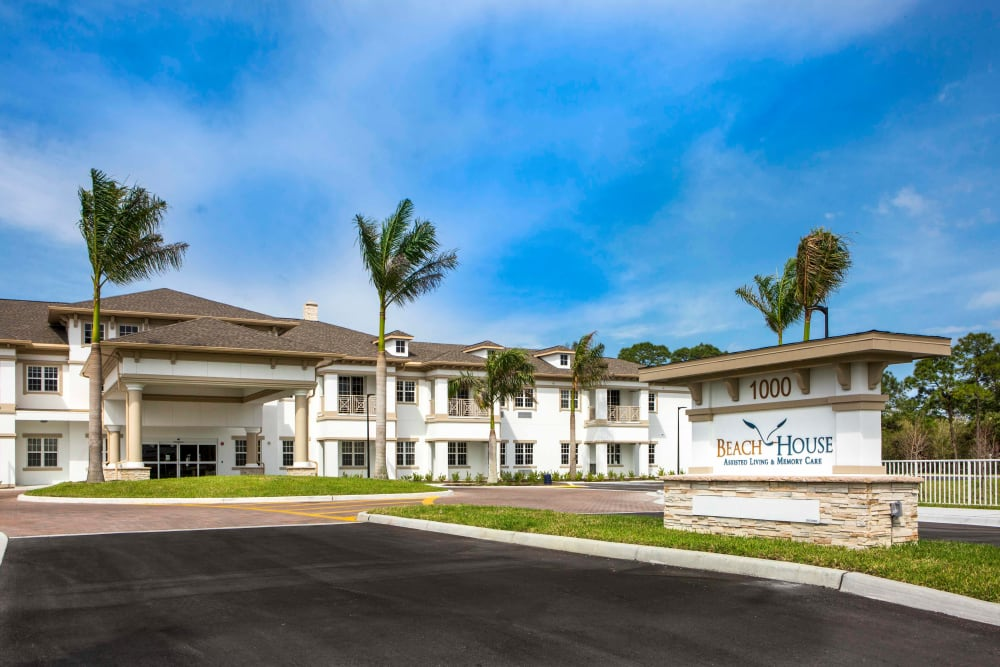 Drive up to Beach House Assisted Living & Memory Care Naples in Naples, Florida