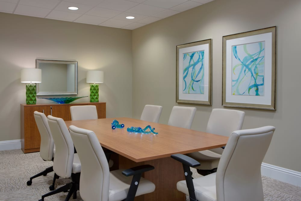 Private meeting room at Beach House Assisted Living & Memory Care Naples in Naples, Florida
