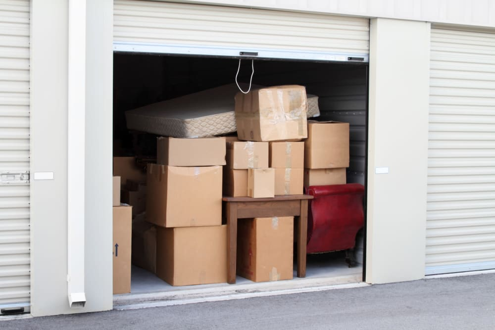 Variety of storage units at Falcon Point Self Storage in Windsor, Colorado.