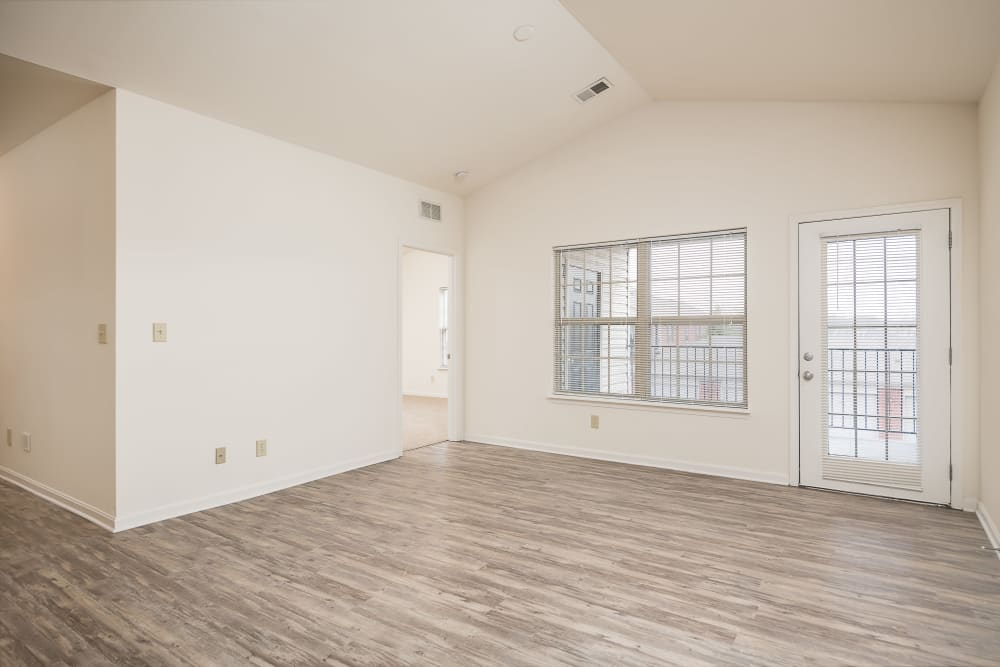 Hardwood floors in an apartment home at Valley Farms in Louisville, Kentucky