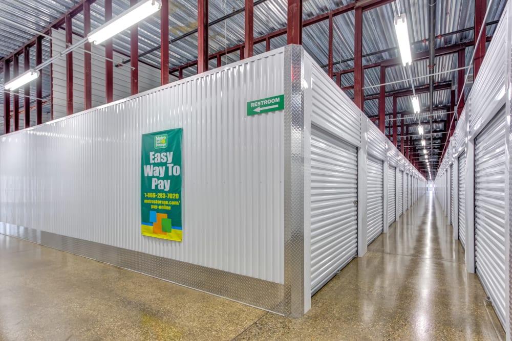 Interior units at Metro Self Storage in Addison, IL