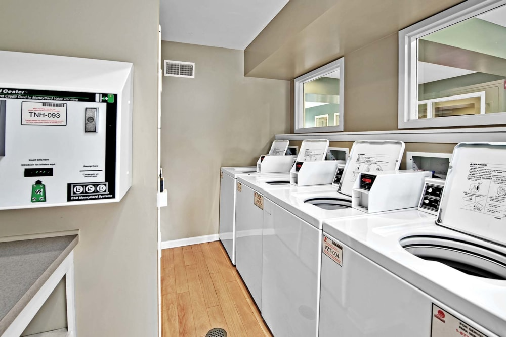 Laundry facilities at Lakeside Apartments in Lisle, Illinois