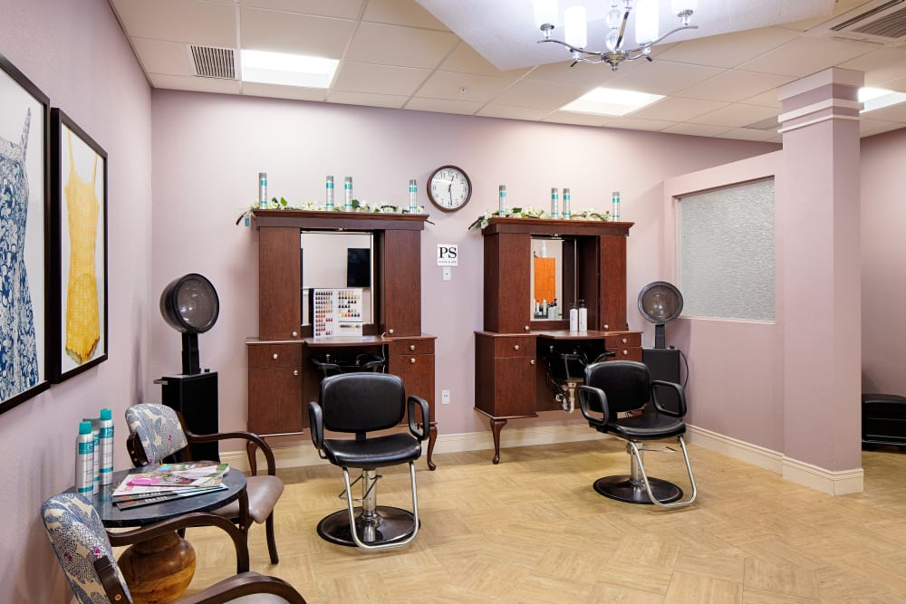 Beauty salon and day spa at The Fountains of Hope in Sarasota, Florida.