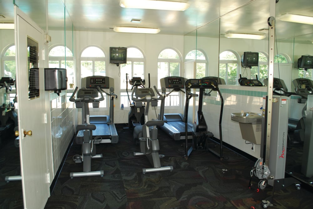 Fitness center at East Meadow Apartments in Fairfax, Virginia