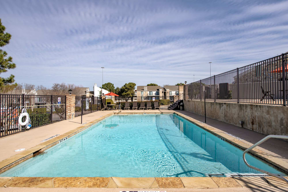 One of two swimming pools at The Belmont in Grand Prairie, Texas