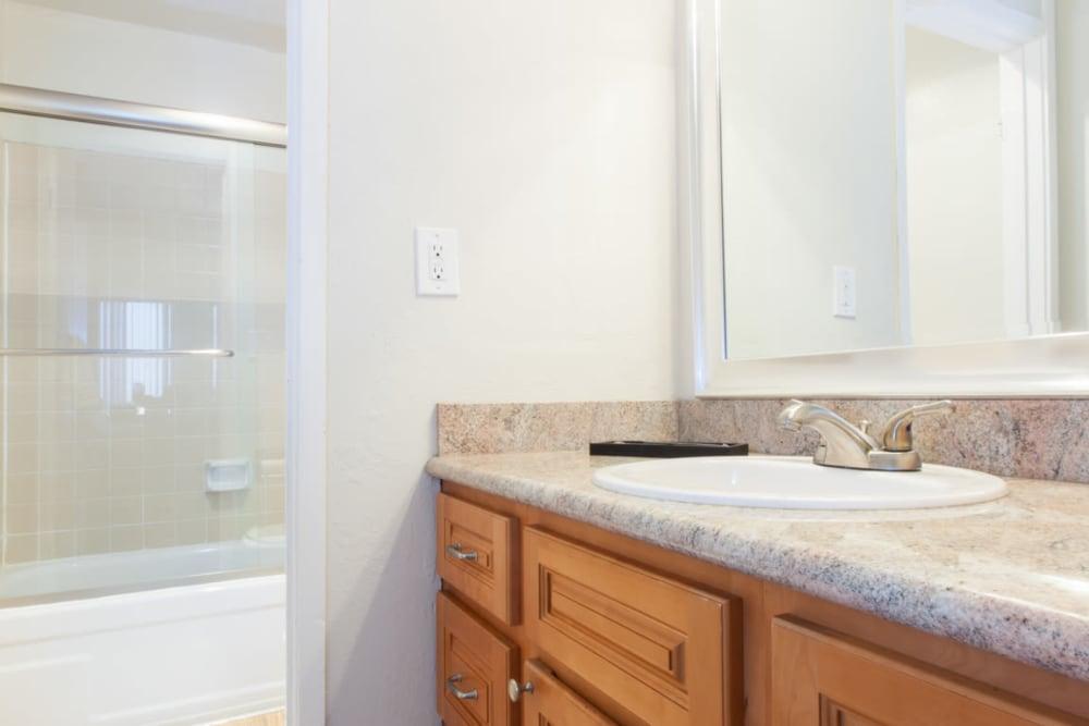 Bathroom at Castlewood Apartments in Walnut Creek, California
