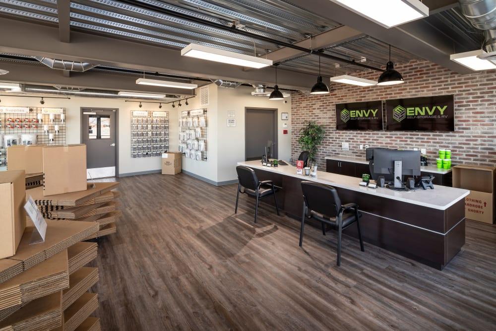 Leasing office at Envy Self-Storage & RV