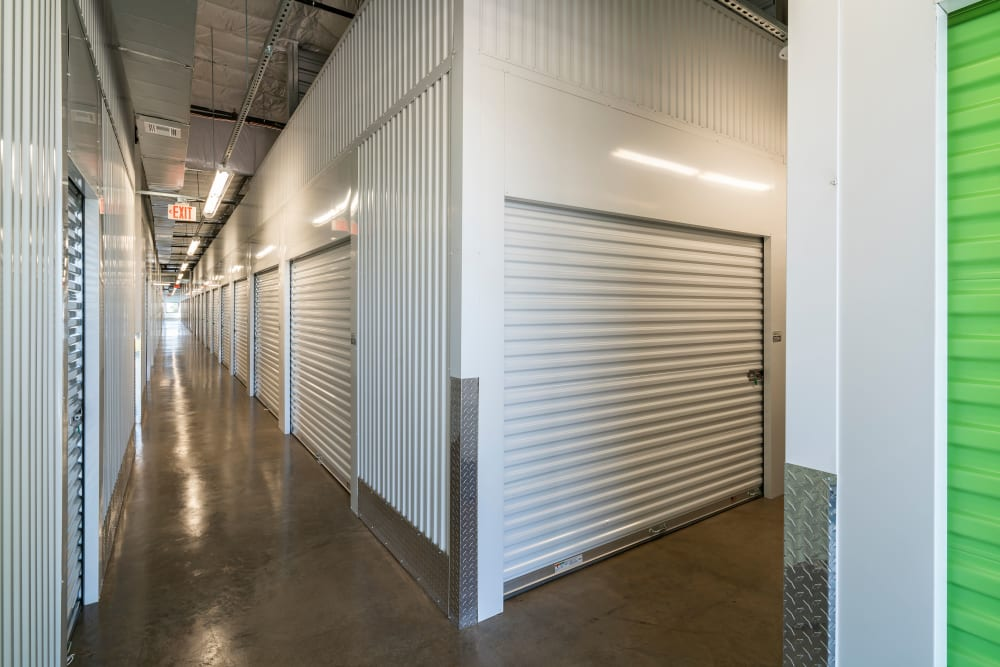Secure indoor storage at self storage location in Gilbert, AZ