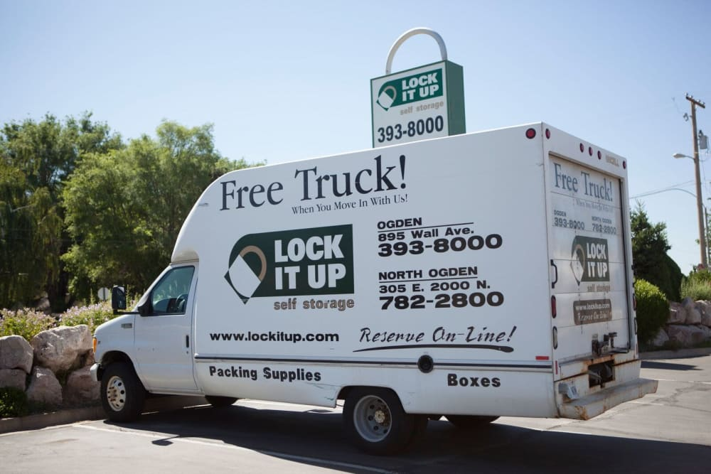Free moving truck from Lock It Up Self Storage in North Ogden, Utah