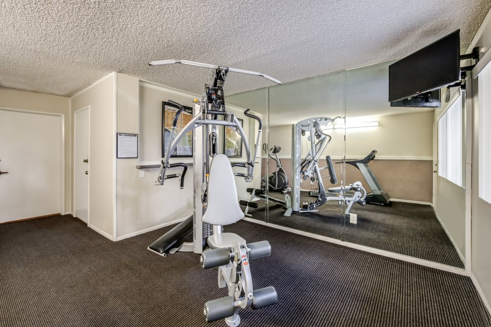 Exercise machines room at The Parkview in Lake Balboa, CA