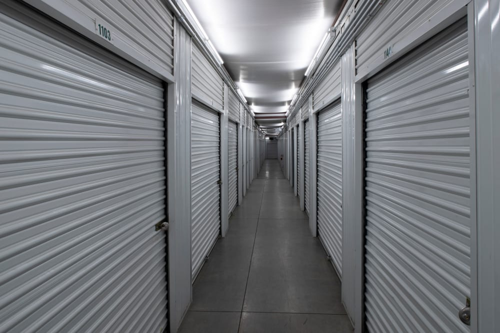 Interior storage units at Lock It Up Self Storage in Layton, Utah