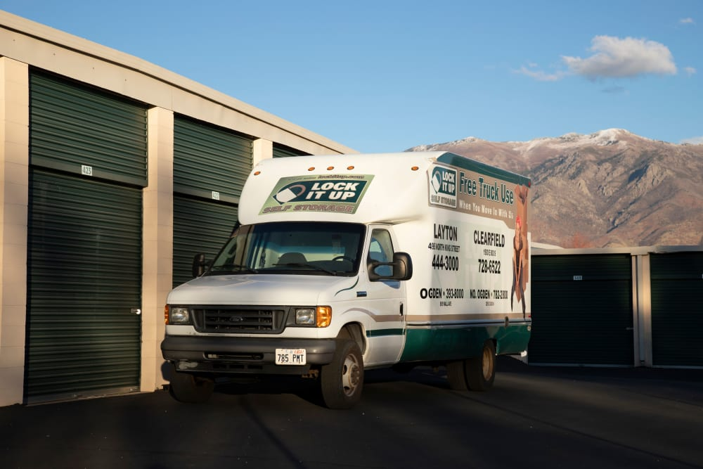 Moving trucks from Lock It Up Self Storage in Layton, Utah