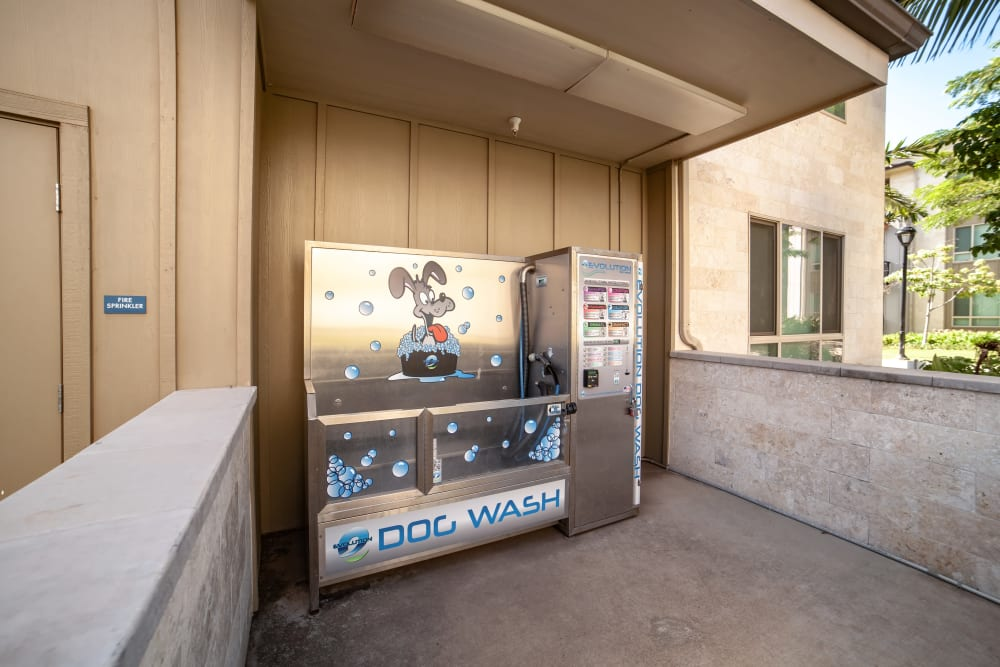 dog wash station at Kapolei Lofts