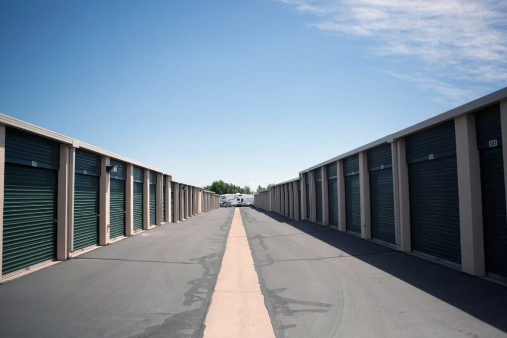 Exterior units at Lock It Up Self Storage in Layton, Utah