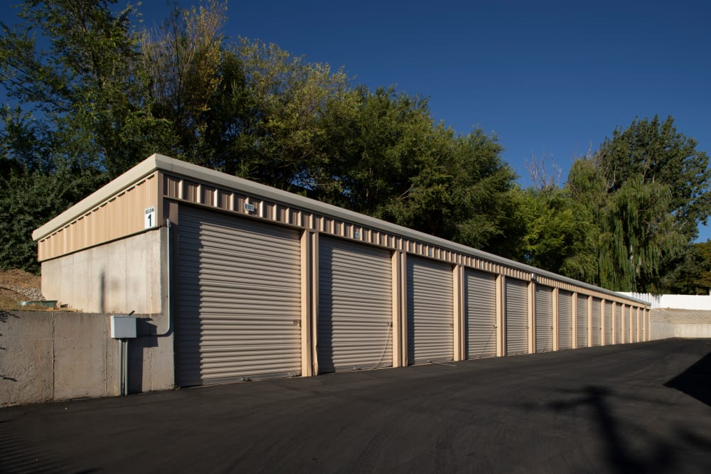 Exterior storage units at Lock It Up Self Storage in Clearfield, Utah