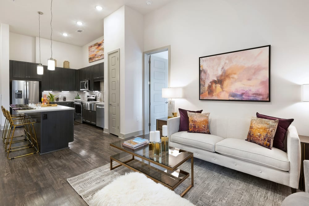 Apartments with a Living Room at Alta Trinity Green