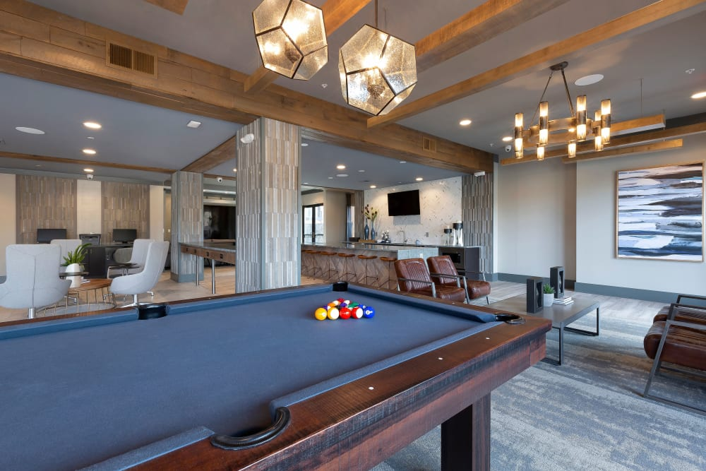 Enjoy a game of billiards at our Apartments in Dallas, Texas