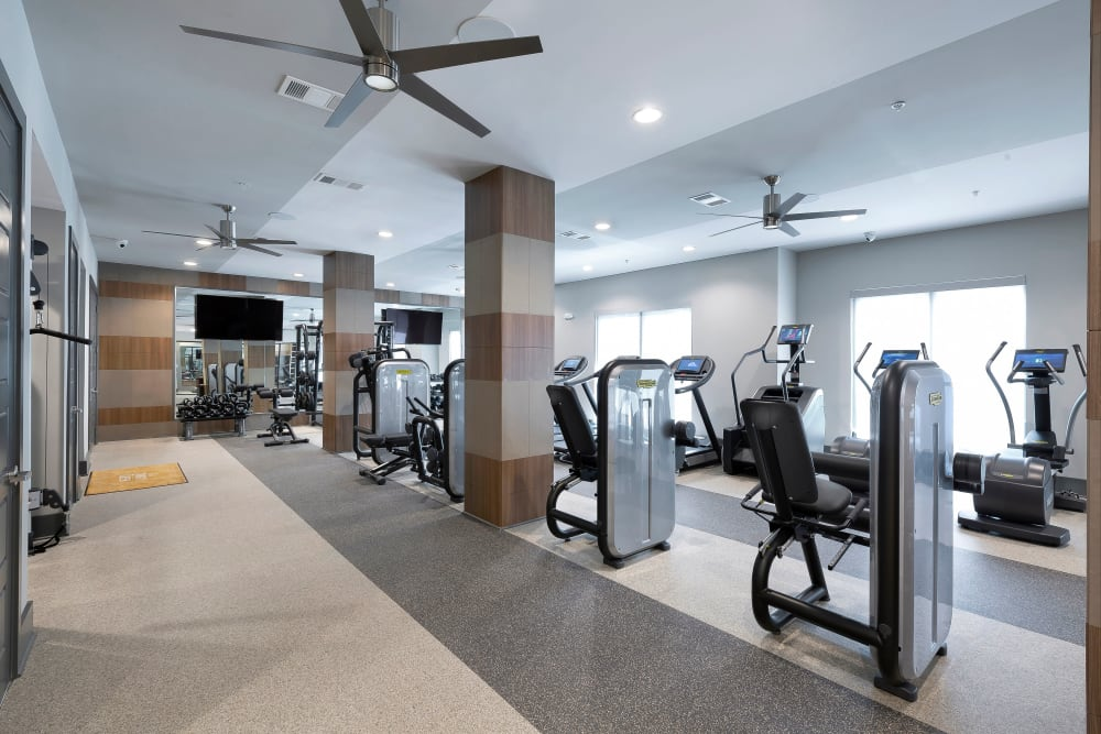 Fitness Center at Apartments in Dallas, Texas