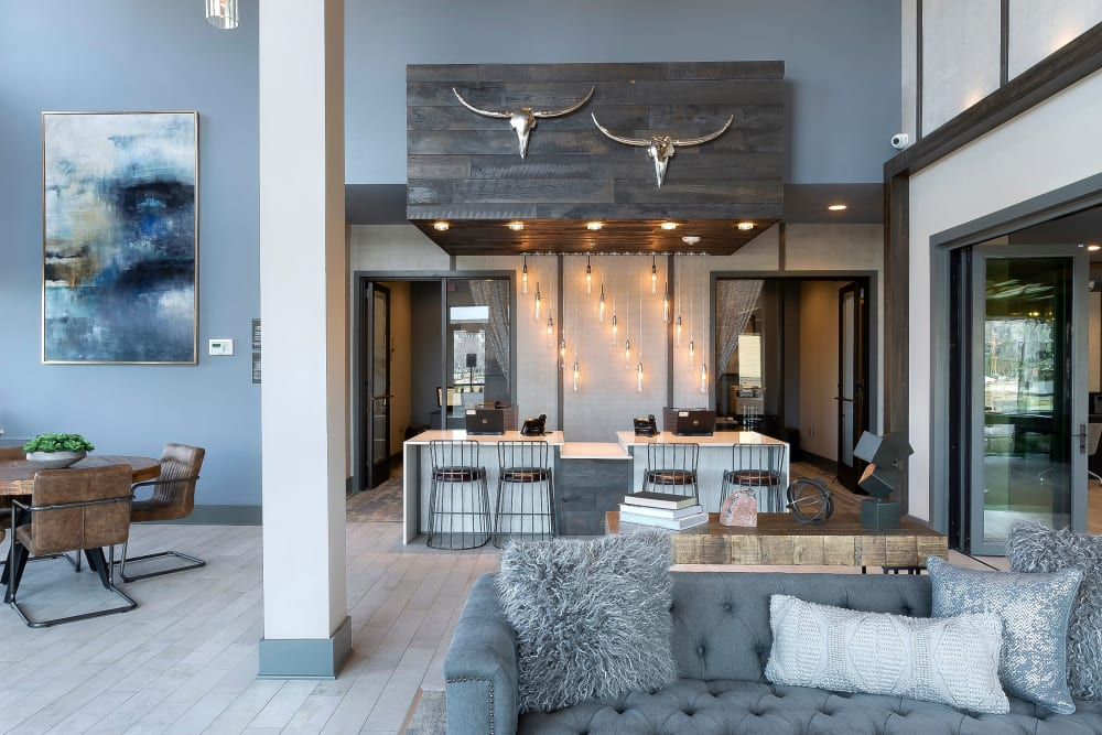 Lobby at Apartments in Dallas, Texas