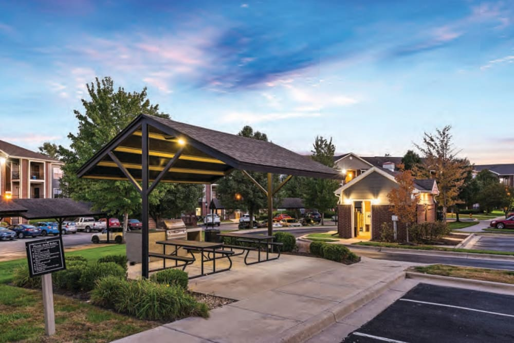 BBQ Area at Cornerstone Apartments in Independence, Missouri