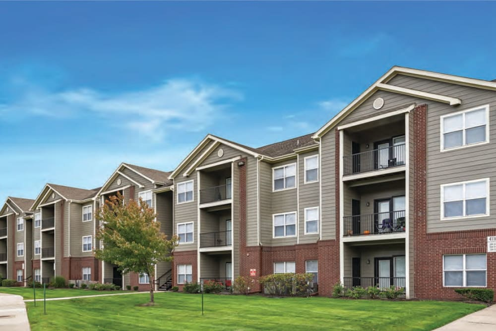 Exterior of Cornerstone Apartments in Independence, Missouri