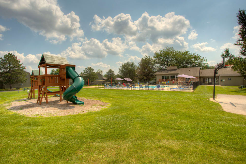 Playground for kids at Country Ridge in Saginaw, Michigan