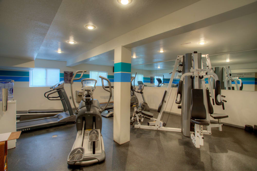 Fitness equipment at Country Ridge in Saginaw, Michigan
