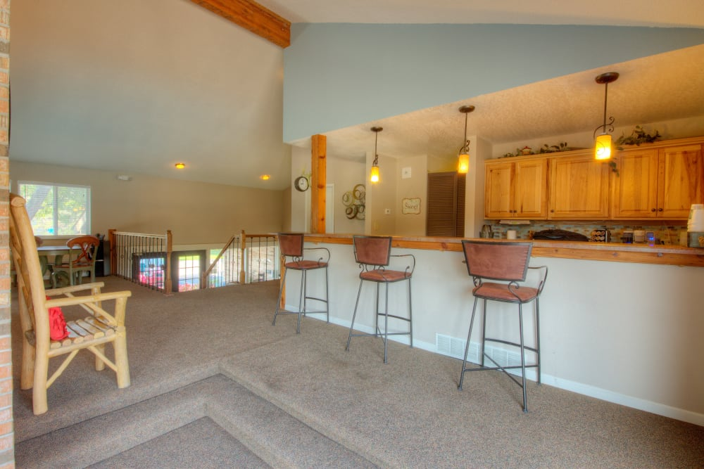Kitchen area at Country Ridge in Saginaw, Michigan
