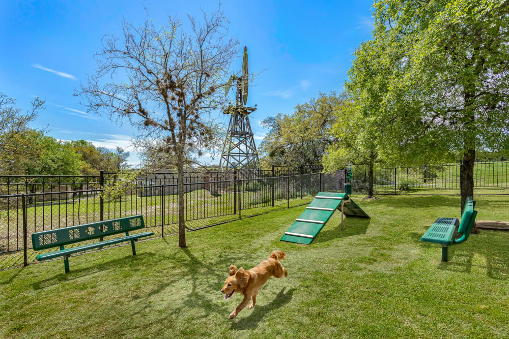 The Lodge at Westover Hills in San Antonio, Texas offers Apartments with a Dog Park