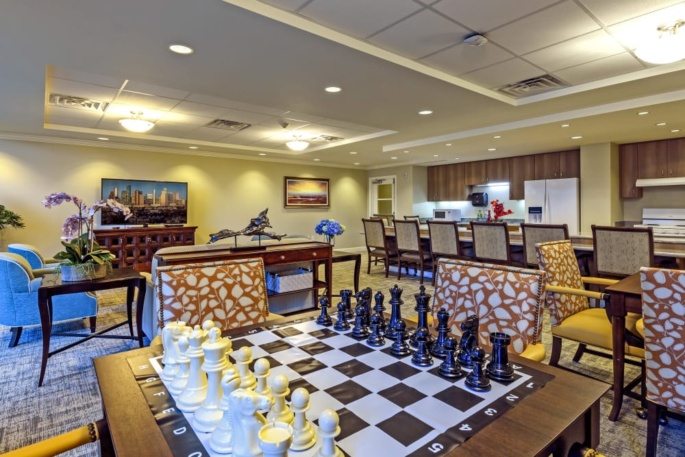 Activity Room at The Village of River Oaks in Houston, Texas