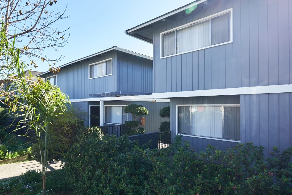 Exterior view of the apartment homes at Casanova Monterey in Monterey, California
