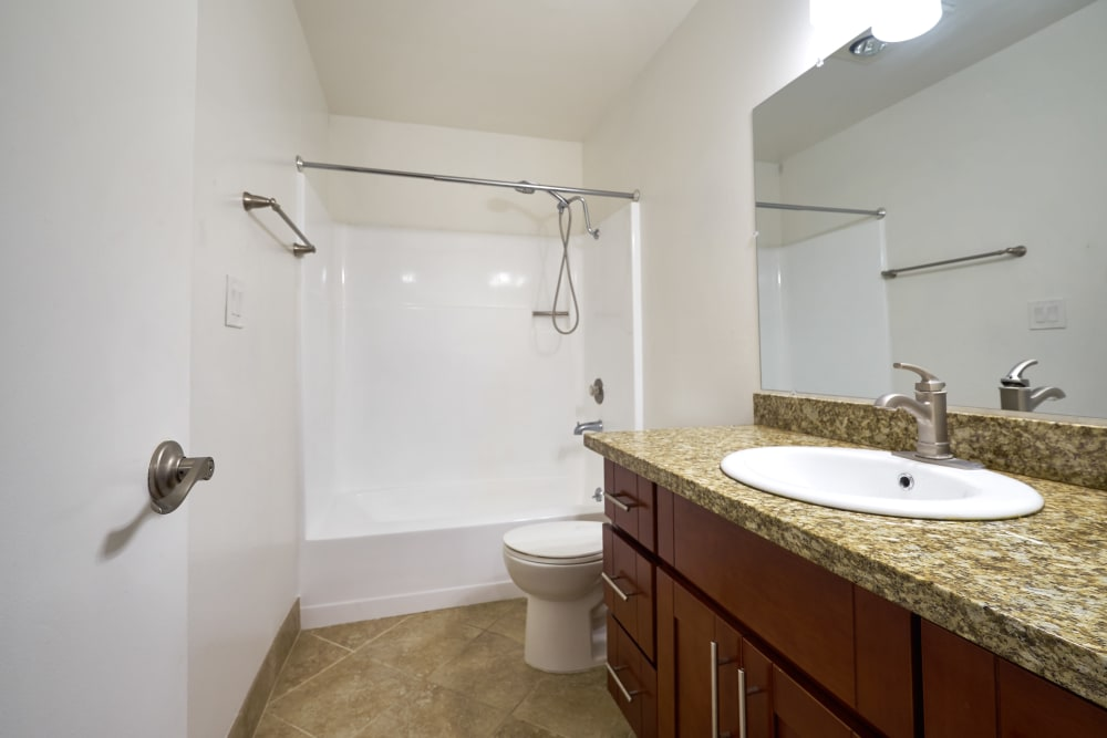 Full bathroom at Casanova Monterey in Monterey, California