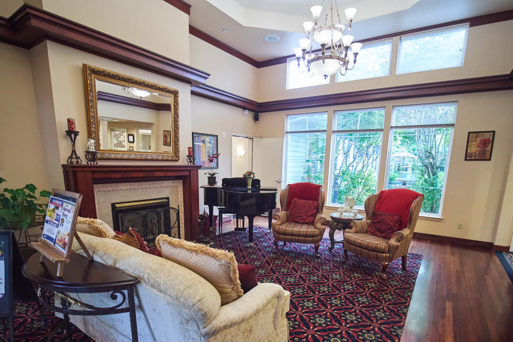 Lobby at Sweetbriar Villa in Springfield, Oregon