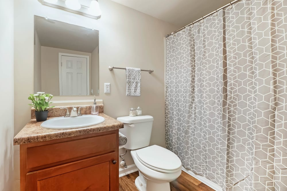 Spacious bathrooms at Redmond Chase Apartments in Rome, Georgia