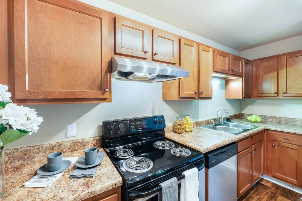 Full kitchen at Redmond Chase Apartments in Rome, Georgia.