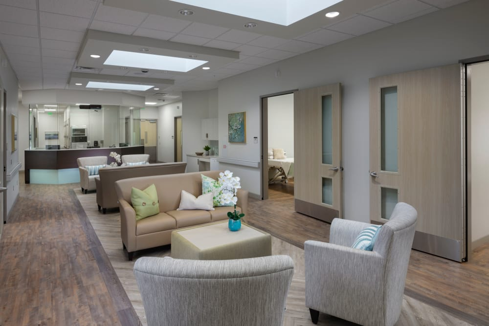 Seating in the lobby at Avenir Behavioral Health Center in Surprise, Arizona