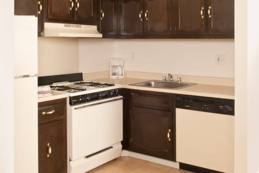 Large spacious kitchen at Chadwick Village Apartments in Lindenwold, New Jersey