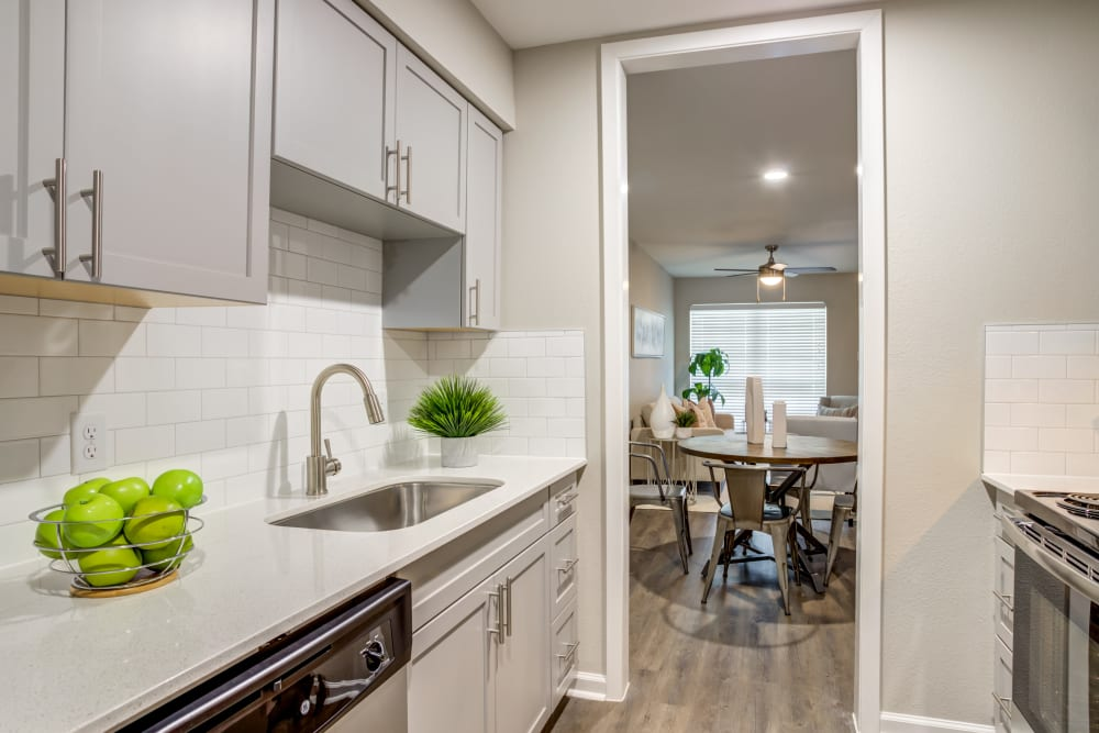 Kitchen at Apartments in Deer Park, Texas