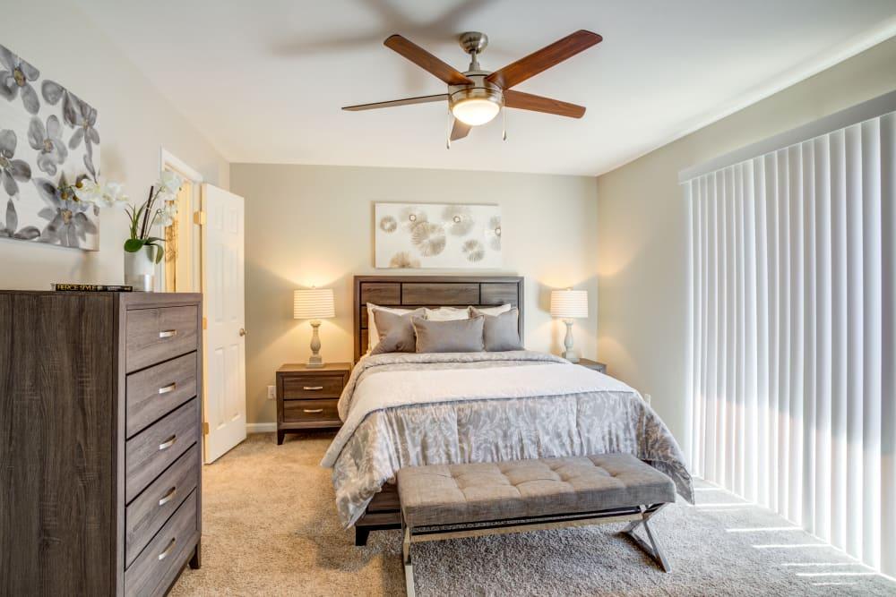 Bedroom at Villages at Parktown Apartments in Deer Park, TX
