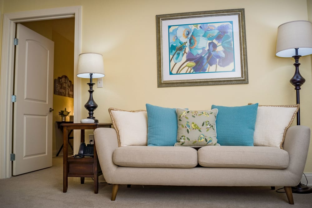 Living room at Welbrook Grand Montecito in Las Vegas, Nevada
