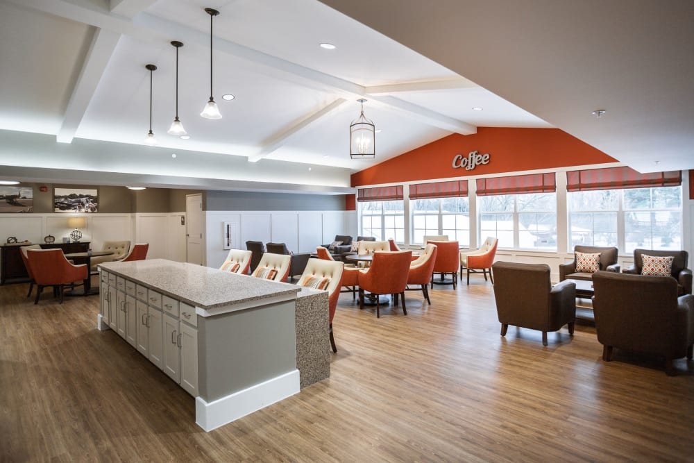 A community lounge at Heritage Crossing in Akron, Ohio