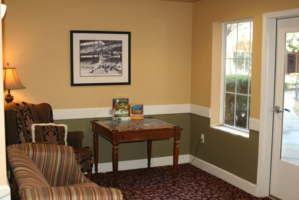 Model suite at Wildwood Canyon Villa Assisted Living and Memory Care in Yucaipa, California