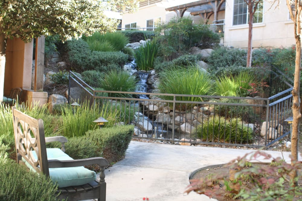 Exterior pathway at Wildwood Canyon Villa Assisted Living and Memory Care in Yucaipa California