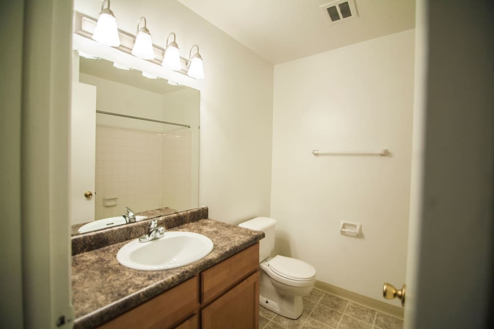 Large bathrooms at Beech Meadow in Beech Grove, Indiana.