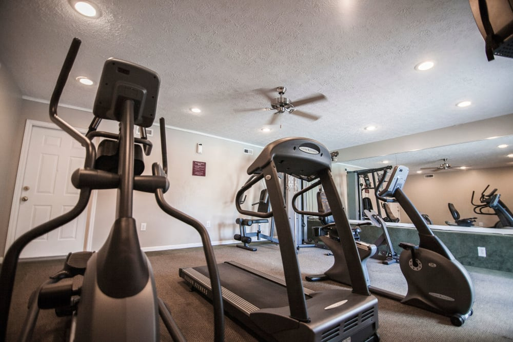 Resident fitness center at Beech Meadow in Beech Grove, Indiana.